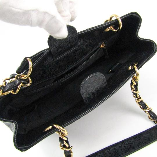 Chanel Quilted Caviar Pst A20994 Tote in Black Image 2
