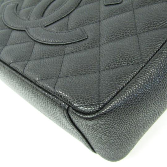 Chanel Quilted Caviar Pst A20994 Tote in Black Image 3
