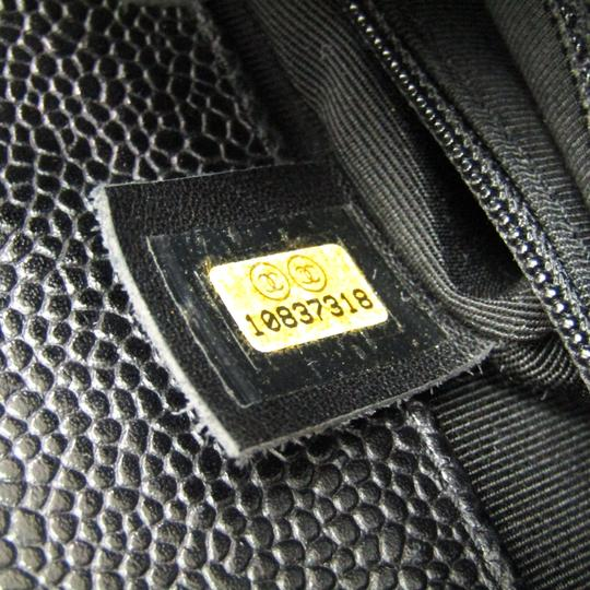Chanel Quilted Caviar Pst A20994 Tote in Black Image 6