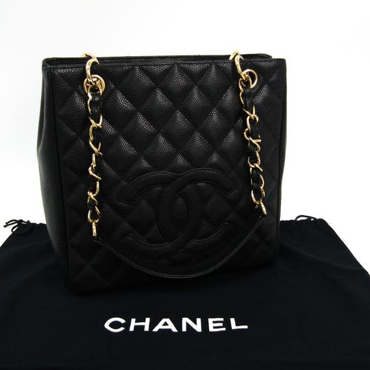 Chanel Quilted Caviar Pst A20994 Tote in Black Image 9