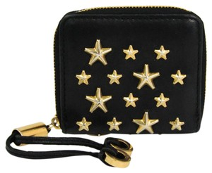 Jimmy Choo Jimmy Choo PENNY Women's Leather Studded Coin Purse/coin Case Black