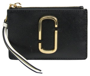 Marc Jacobs Marc Jacobs M0014283 Women's Leather Coin Purse/coin Case White,Black,Charcoal Gray
