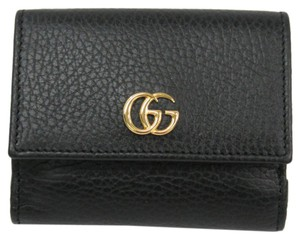 Gucci Gucci GG Marmont 524672 Women's Leather Wallet (tri-fold) Black