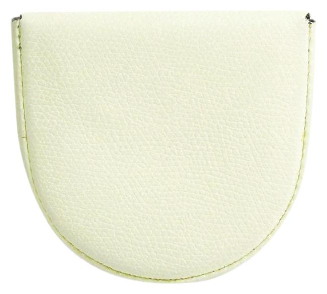 Item - White V0l89 Unisex Leather Coin Purse/Coin Case Wallet