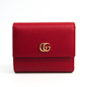 Gucci Gucci GG Marmont 546584 Women's Leather Wallet (bi-fold) Red