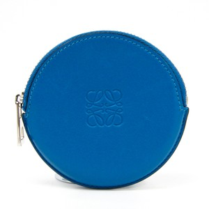 Loewe Loewe Women's Leather Coin Purse/coin Case Blue