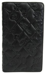 Chanel Chanel Icon Leather Long Wallet (bi-fold) Black