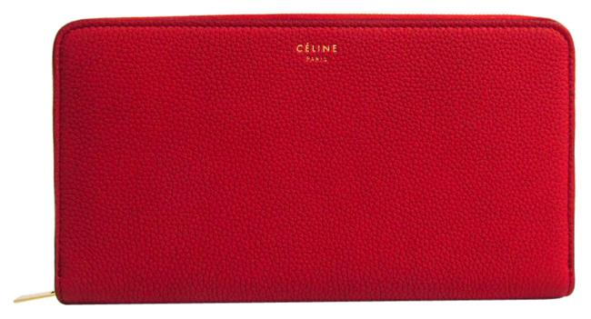 Item - Red Long Large Ziped Multifunction 105003 Women's Leather (Bi-fold) Wallet