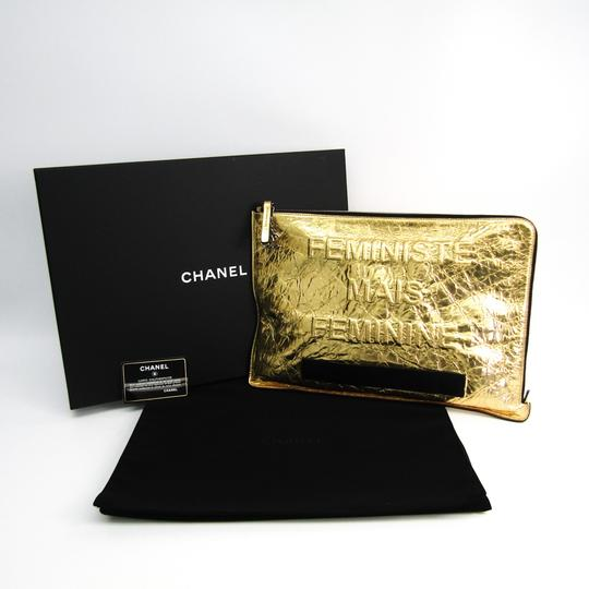 Chanel Gold Clutch Image 9
