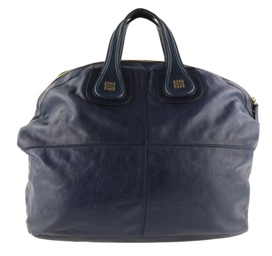 Givenchy Leather Gold Hardware Tote in Blue Image 1