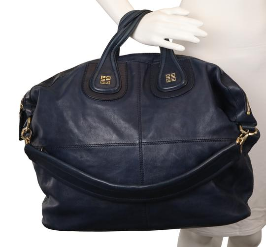 Givenchy Leather Gold Hardware Tote in Blue Image 10