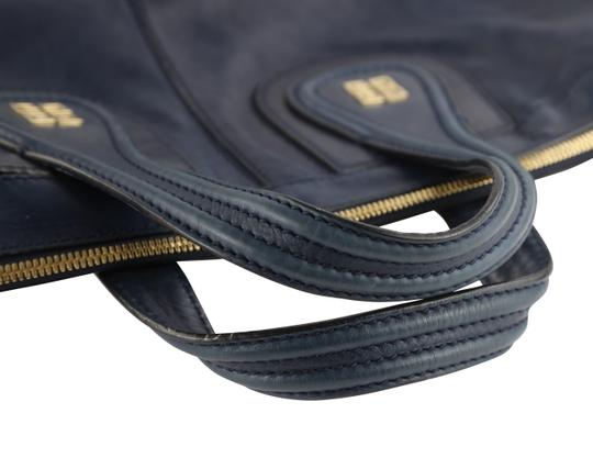 Givenchy Leather Gold Hardware Tote in Blue Image 9