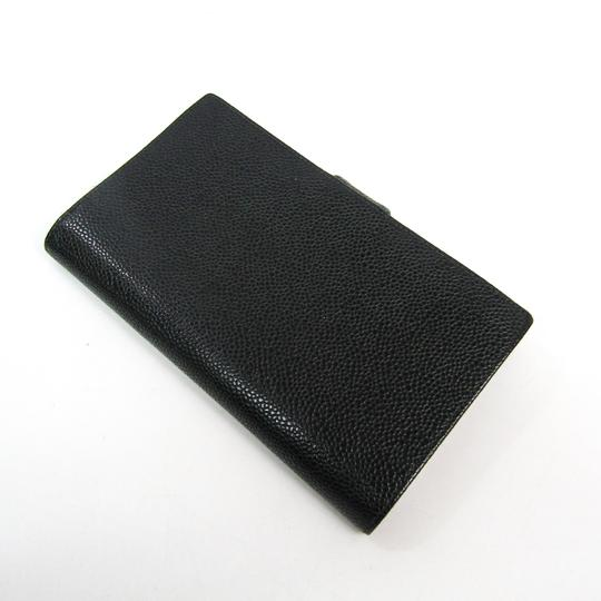 Chanel Chanel Caviar Leather Long Wallet (bi-fold) Black Image 1