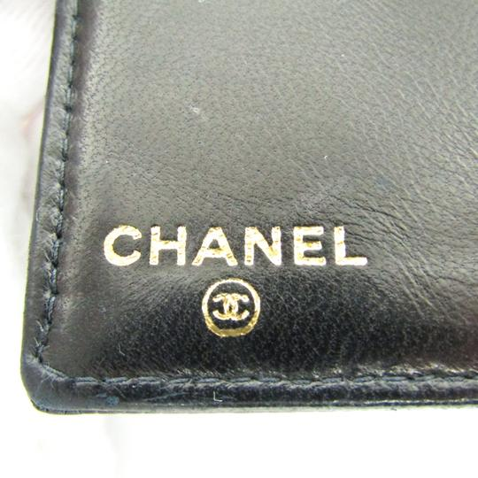 Chanel Chanel Caviar Leather Long Wallet (bi-fold) Black Image 9