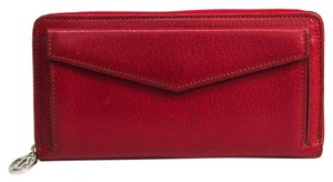 Cartier Cartier Les Must Collection Women's Leather Long Wallet (bi-fold) Red