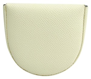 Valextra Valextra V0L89 Unisex Leather Coin Purse/coin Case Ivory