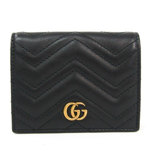 Gucci Gucci GG Mermont 443125 Women's Leather Card Wallet Black