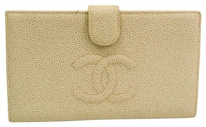Chanel Chanel Women's Caviar Leather Long Wallet (bi-fold) Ivory
