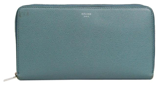 Item - Light Blue Long Large Ziped Multifunction 105003 Women's Calfskin (Bi-fold) Wallet