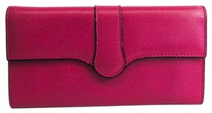 Valextra Valextra Punch Long Wallet /3 Card Leather V9U14-028-000K-OC Calfskin Long Wallet (bi-fold) Magenta