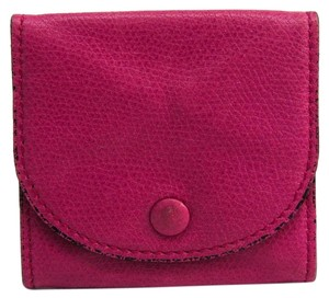 Valextra Valextra V0L90 Unisex Leather Coin Purse/coin Case Magenta