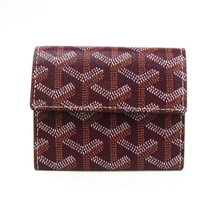 0e7e5eb648eee Goyard Goyard Marigny APM104 Leather,Canvas Coin Purse/coin Case Bordeaux