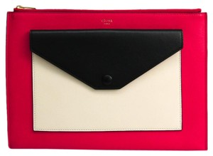 Céline Black / Light beige / Pink Clutch
