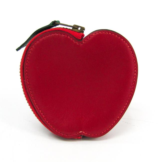 Item - Red Box Apple Women's Calf Leather Coin Purse/Coin Case Wallet