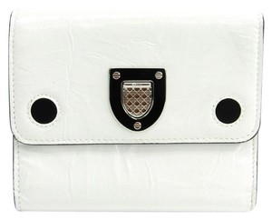 Dior Christian Dior Diorama Women's Patent Leather Wallet (tri-fold) White