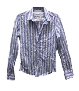 Frank & Eileen Button Down Shirt Blue Stripe