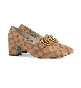 Gucci Loafers Print Brown Red Chanel Beige GG Monogram Pumps