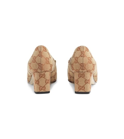 Gucci Loafers Print Brown Red Chanel Beige GG Monogram Pumps Image 2