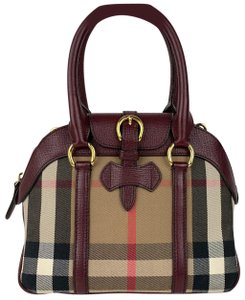 Burberry Satchel in Tan and Plum