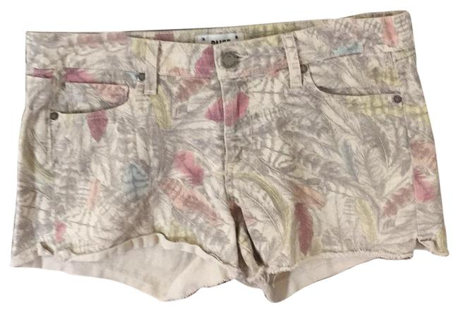 Item - Cream and Blue Multi Shorts Size 8 (M, 29, 30)