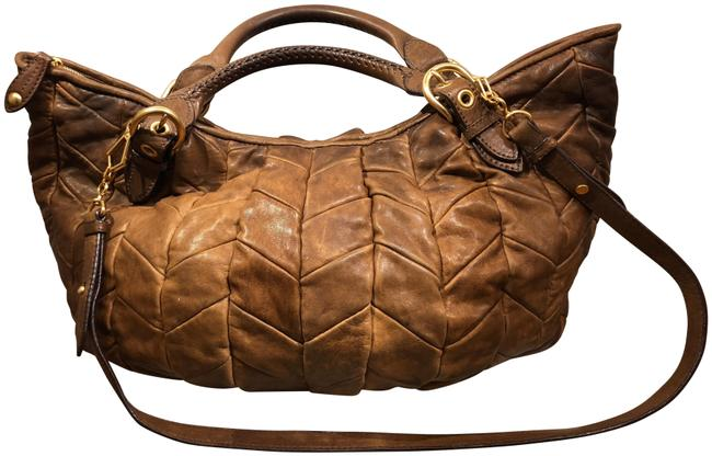 Item - Nappa Large Patchwork In Cammello Camel Leather Tote