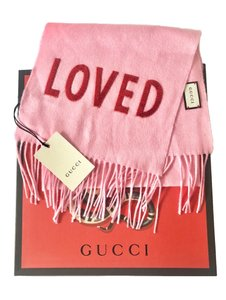 "Gucci ""Loved"" Roseate Pink New Sequin Silk/ Cashmere Blend Wrap Shawl"