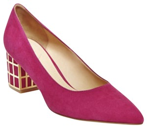 Brian Atwood Pink and Gold Pumps