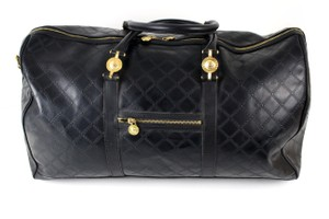 Versace Vintage Leather black Travel Bag