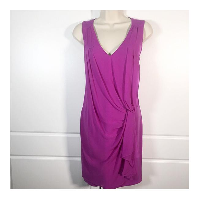 Item - Magenta Ruched Night Out Dress Size 2 (XS)