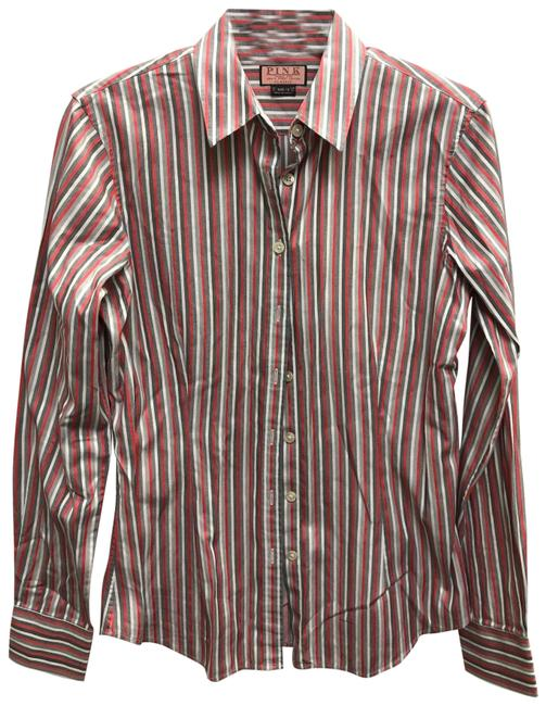 Item - Multicolor Thomas Classic Stripes Cotton Shirt Button-down Top Size 8 (M)