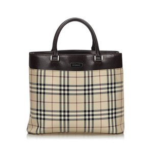 Burberry 9gbuto021 Vintage Blend Leather Tote in Brown