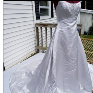Impression Bridal by Zurc Platinum Silver Satin 20?? Modern Wedding Dress Size 4 (S)
