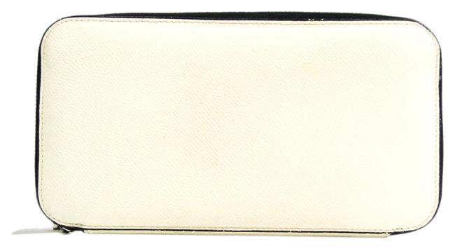 Item - White Long V9l06 Unisex Embossed Leather (Bi-fold) Wallet