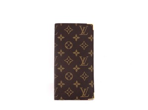 Louis Vuitton Rare Vintage Monogram Canvas Leather Oversized Long Travel Wallet