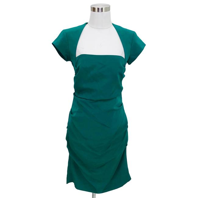 Item - Green N998 Designer Medium Bodycon Short Formal Dress Size 8 (M)