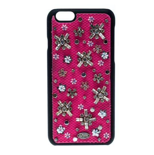 Dior Pink Crystal and Fabric Stardust Embellished IPhone 6 Case Image 0