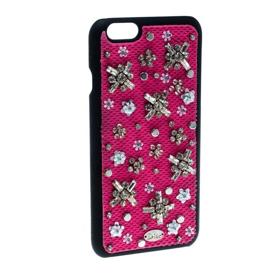 Dior Pink Crystal and Fabric Stardust Embellished IPhone 6 Case Image 2
