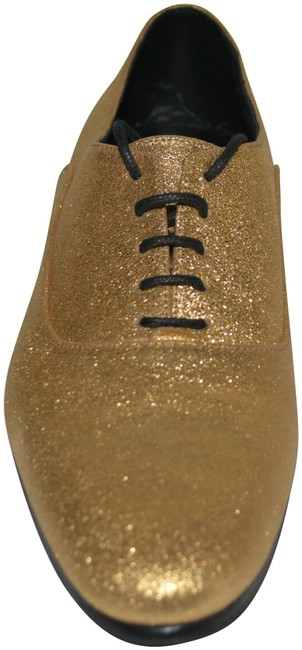 Saint Laurent Gold Ysl Lace Up Leather Oxford Eu 37.5 Formal Shoes Size US 7.5 Regular (M, B) Saint Laurent Gold Ysl Lace Up Leather Oxford Eu 37.5 Formal Shoes Size US 7.5 Regular (M, B) Image 1