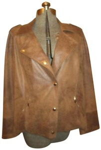 Chico's Distressed Faux Leather Moto Onm003 Stretch Motorcycle Jacket