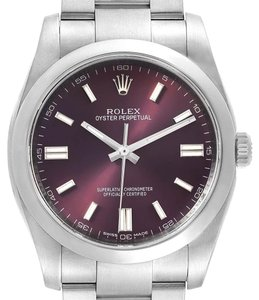 Rolex Rolex Oyster Perpetual 36 Red Grape Dial Mens Watch 116000